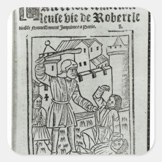Title page from 'La Terrible et Merveille�' Square Sticker