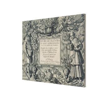 Title page from 'Livre des Fleurs' by Jean Le Cler Canvas Print