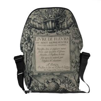 Title page from 'Livre des Fleurs' by Jean Le Cler Courier Bag