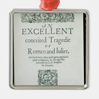 Title Page from 'Romeo and Juliet' Metal Ornament