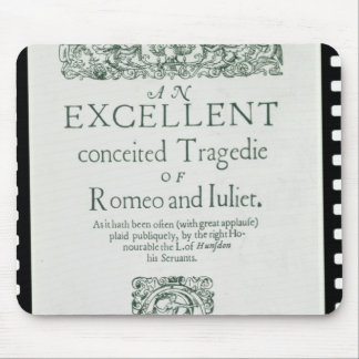 Title Page from 'Romeo and Juliet' Mouse Pad