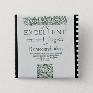 Title Page from 'Romeo and Juliet' Pinback Button