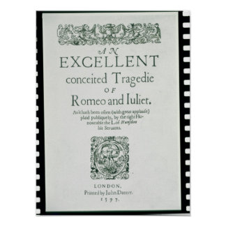 Title Page from 'Romeo and Juliet' Print