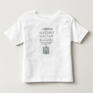 Title Page from 'Romeo and Juliet' Toddler T-shirt