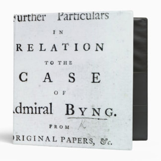 Title page from 'Some Further Particulars Binder