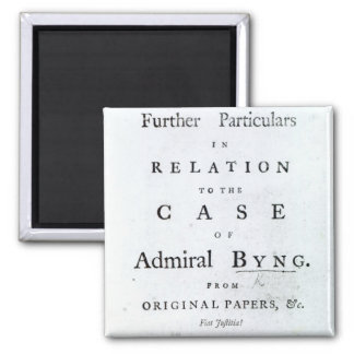 Title page from 'Some Further Particulars Magnet