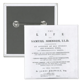 Title page, from 'The Life of Samuel Johnson' Button