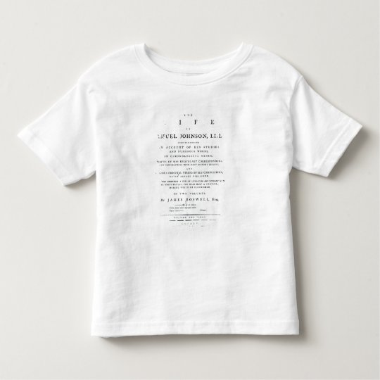Title page, from 'The Life of Samuel Johnson' Toddler T-shirt