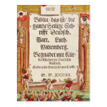 Title page from the Luther Bible, c.1530 Post Card
