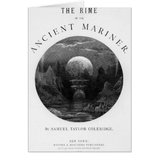 Title page from 'The Rime of the Ancient Mariner' Card