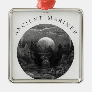 Title page from 'The Rime of the Ancient Mariner' Metal Ornament