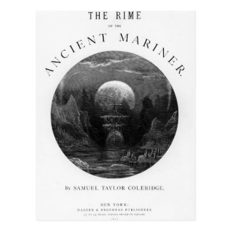 Title page from 'The Rime of the Ancient Mariner' Postcard