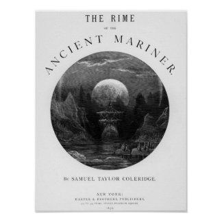 Title page from 'The Rime of the Ancient Mariner' Poster