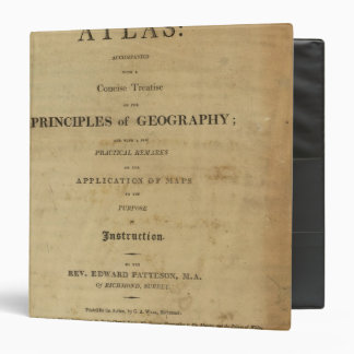 Title Page General & classical atlas 3 Ring Binder