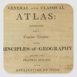 Title Page General & classical atlas Square Sticker
