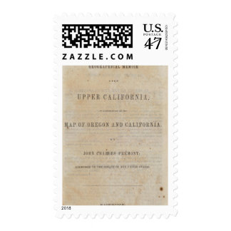 Title Page Geographical memoir Postage