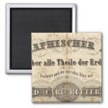 Title Page Geographischer Atlas 2 Inch Square Magnet