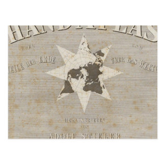 Title Page Hand Atlas of parts of Earth Postcard