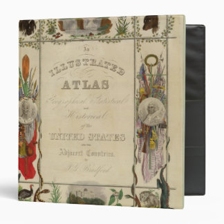 Title Page Illustrated atlas of the United States Binder