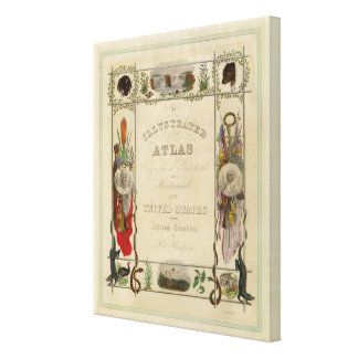 Title Page Illustrated atlas of the United States Canvas Prints