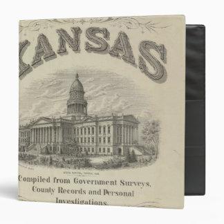 Title Page Kansas Official State Atlas 3 Ring Binders