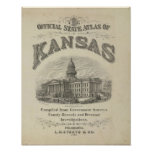 Title Page Kansas Official State Atlas Poster