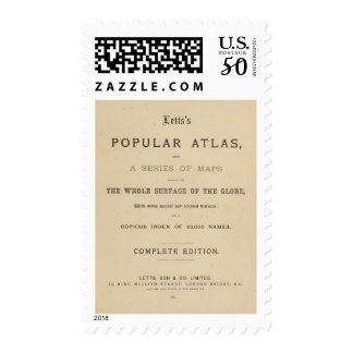 Title Page Letts's popular atlas Postage