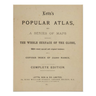 Title Page Letts's popular atlas Poster