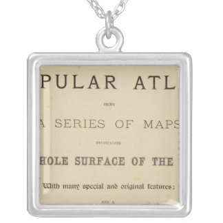 Title Page Letts's popular atlas Silver Plated Necklace