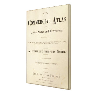 Title Page New commercial atlas Canvas Print