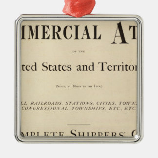 Title Page New commercial atlas Metal Ornament