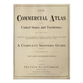 Title Page New commercial atlas Poster
