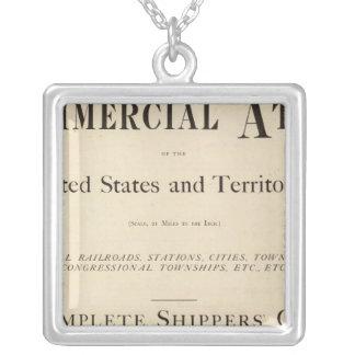 Title Page New commercial atlas Square Pendant Necklace