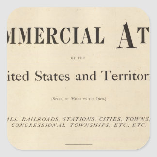 Title Page New commercial atlas Square Sticker