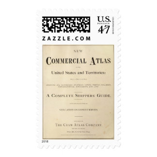 Title Page New commercial atlas Stamp