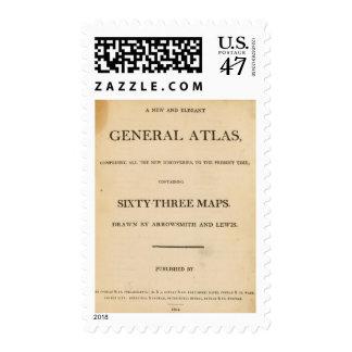 Title Page New, elegant general atlas Postage