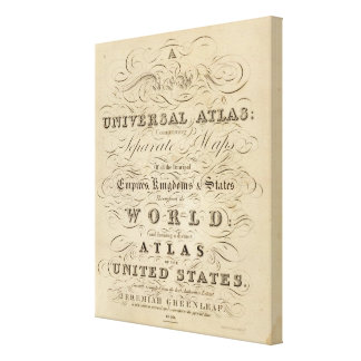 Title Page New universal Atlas Canvas Print