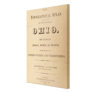 Title Page of a Topographical Atlas Canvas Print