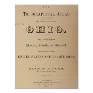 Title Page of a Topographical Atlas Poster