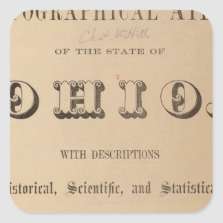 Title Page of a Topographical Atlas Square Sticker