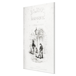Title page of 'Bleak House' Canvas Print