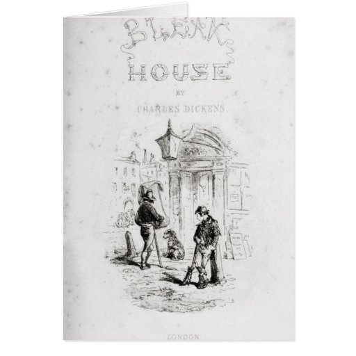 Title page of 'Bleak House' Greeting Card