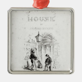 Title page of 'Bleak House' Square Metal Christmas Ornament