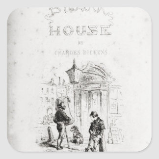 Title page of 'Bleak House' Square Sticker