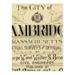 Title Page of Cambridge Atlas Post Card
