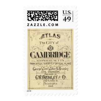 Title Page of Cambridge Atlas Postage