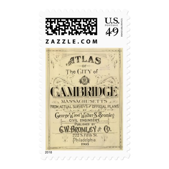 Title Page of Cambridge Atlas Postage Stamp