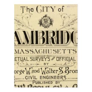 Title Page of Cambridge Atlas Postcard