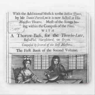 Title page of 'Deliciae Musicae' Mouse Pad