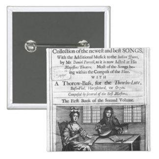 Title page of 'Deliciae Musicae' Pinback Button